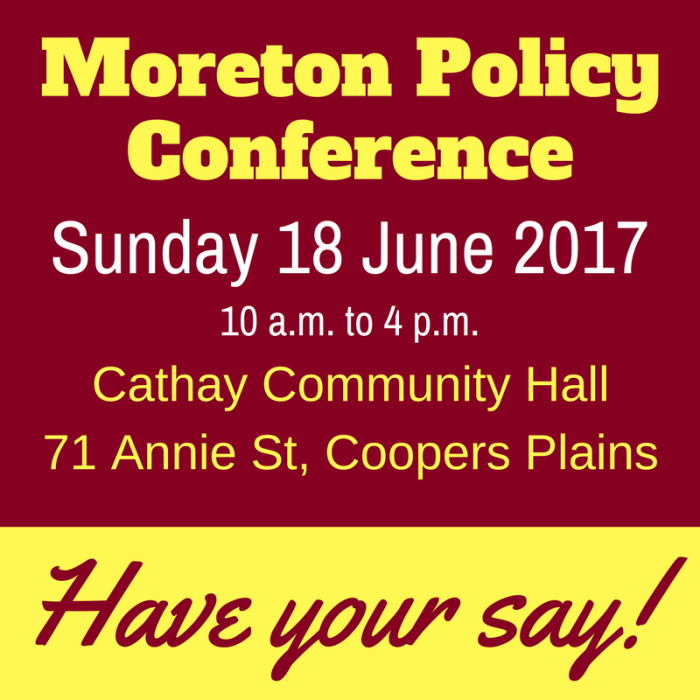Moreton Policy Conference
