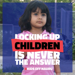 Kids off Nauru